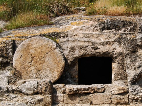 Roman period tomb with a rolling stone near the Jezreel Valley. Photo by Ferrell Jenkins.